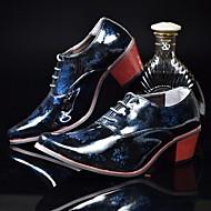 baratos Sapatos Masculinos-Homens Impressão Oxfords Couro Ecológico Primavera / Verão Conforto Oxfords Prateado / Vermelho / Azul / Casamento / Festas & Noite