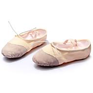 billige Ballettsko-Dame Ballettsko Lerret Joggesko Sløyfe Flat hæl Kan spesialtilpasses Dansesko Svart / Rød / Rosa / Innendørs / Trening