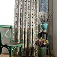 Et panel Window Treatment Rustikk Moderne Neoklassisk Europeisk Designer Soverom Polyester Materiale gardiner gardiner Hjem Dekor For