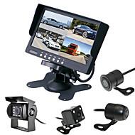 billiga Parkeringskamera för bil-renepai® 7 tum 4 i 1 HD-skärm + buss 170 ° hd bil backkamera vattentät kamera kabellängd 6m, 10m, 16m, 20m,