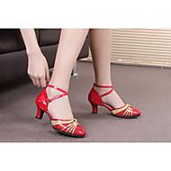 billige Moderne sko-Dame Balett Latin Dansesko Samba Glimtende Glitter Paljett Lakklær Syntetisk Høye hæler Sandaler Joggesko Innendørs Profesjonell