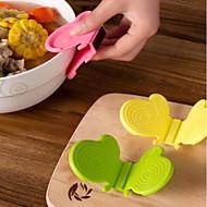 baratos Utensílios de Fruta e Vegetais-cozinha gadget de borboleta silicone isolamento clip / clipe anti-quente / silicone luva de forno (cor aleatória)