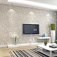 Floral Papel de parede Contemporâneo Revestimento de paredes,Papel não tecido Sim