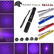 scharfen Adler zq-lv-zo 405nm 5mW violetten Laser-Pointer (Schalenfarbe multicolor) + fünf Muster Laserkopf + Laserschwert