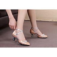 billige Moderne sko-Dame Moderne sko Syntetisk / Sateng / Lakklær Høye hæler / Sandaler / Joggesko Spenne / Sløyfe / Snøring Kubansk hæl Kan ikke / Innendørs