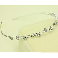 South Korea Imported Hairpin Rhinestone Beaded Head Hoop Decorations Double Row Diamond Hair Band