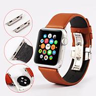 Urrem for Apple Watch Series 3 / 2 / 1 Apple Sommerfugle Spænde Ægte læder Håndledsrem