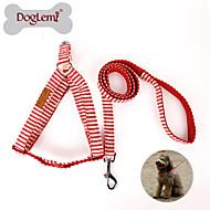 お買い得  犬用カラー/リード/ハーネス-犬 ハーネス リード スリップリード 調整可能 / 引き込み式 繊維 ナイロン レッド ブルー