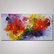 Hand-Painted Abstract Horizontal Panoramic,Modern One Panel Canvas Oil Painting For Home Decoration