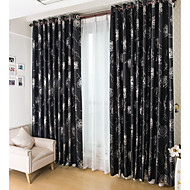To paneler Window Treatment Moderne Stue Polyester Materiale Blackout Gardiner Gardiner Hjem Dekor For Vindu