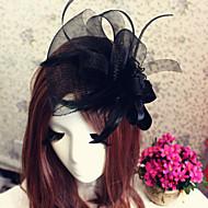 チュールのヘッドバンドの魅力的な花の帽子ヘッドピースのエレガントなスタイル