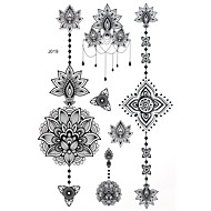 cheap Tattoo Stickers-BlackLace Henna Indian Body Temporary Sexy Tattoos Sticker For Women,Teens,Girls(5 Patterns in 1 Sheet) J019
