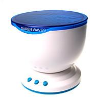 luz da noite levou projector oceano lâmpada azul ondas do mar de projeção com mini alto-falante