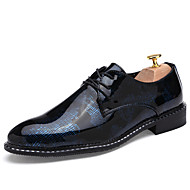 メンズ 靴 レザーレット 春 秋 冬 コンフォートシューズ オックスフォードシューズ 編み上げ 用途 結婚式 シルバー レッド ブルー ゴールデン