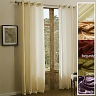 ieftine -Un Panou Tratamentul fereastră Țara Modern Mediteranean Baroc European Designer  , Mată Sufragerie Poliester Material perdele, draperii