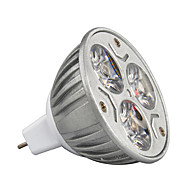 billige Spotlys med LED-3W 210-245lm GU5.3(MR16) LED-spotpærer MR16 3 LED perler Høyeffekts-LED Dekorativ Varm hvit / Kjølig hvit / RGB 12V / 1 stk. / RoHs / CE
