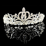cheap Headpieces-Crystal Rhinestone Alloy Tiaras 1 Wedding Special Occasion Headpiece