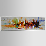Hand-Painted Abstract Horizontal Panoramic,Classic Modern Traditional One Panel Canvas Oil Painting For Home Decoration