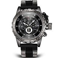 V6 Homens Relógio Militar Relógio de Pulso Quartzo Quartzo Japonês Régua Deslizante Silicone Banda Preta Branco Azul Cinza