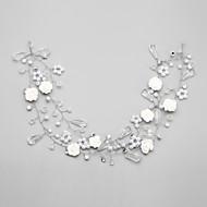 baratos Acessórios de Cabelo de Noiva-Cristal Imitação de Pérola Strass Liga Headbands 1 Casamento Ocasião Especial Capacete