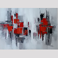 voordelige -Handgeschilderde Abstract Vierkant, Modern Kangas Hang-geschilderd olieverfschilderij Huisdecoratie Eén paneel