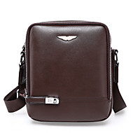 Men Bags PU Shoulder Bag Satchel for Shopping Casual Formal Office & Career All Seasons Black Brown