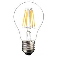 billige Globepærer med LED-1pc 6W 560lm E26 / E27 LED-glødepærer A60(A19) 6 LED perler COB Dekorativ Varm hvit Kjølig hvit 220-240V