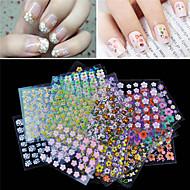 30 pcs 3D Negle Stickers Blomst Negle kunst Manicure Pedicure Smuk Chic & Moderne / Mode Daglig / PVC / 3D Nail Stickers