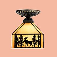 e27 220v 20 * 17cm3-10㎡ヨーロッパの農村創造芸術ステンドグラス吸収ドームランプled光
