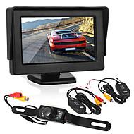 cheap Car Rear View Camera-Car reversing monitoring4.3 inch display/ LED license camera/wireless transmitter and receiver