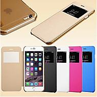 iPhone5の/ 5Sのためのスマートビュー画面タッチPUレザーケース(アソートカラー)