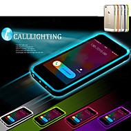 Varten iPhone 5 kotelo LED salamavalo / Läpinäkyvä Etui Takakuori Etui Yksivärinen Pehmeä TPU iPhone SE/5s/5