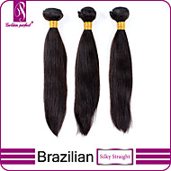 Natural Color Hair Weaves Brazilian Texture Straight 3 Pieces hair weaves