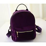 tanie Plecaki-Damskie Torby Inny rodzaj skóry plecak na Casual Na każdy sezon Black Gray Purple Wine