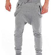 Muškarci Aktivan Pamuk Slim Harem hlače Sportske hlače Široke Hlače Jednobojni