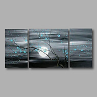 hesapli Artist - Zhuo-El-Boyalı Çiçek/Botanik Yatay Panoramik, Modern Tuval Hang-Boyalı Yağlıboya Resim Ev dekorasyonu Üç Panelli