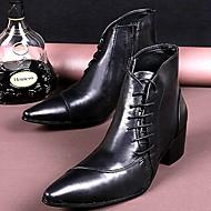baratos Sapatos Masculinos-Homens Couro Primavera / Outono / Inverno Conforto 20.32-25.4 cm / Botas Curtas / Ankle Preto / Festas & Noite