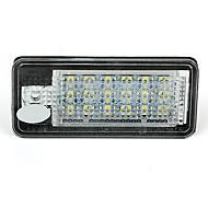 2 bílá 18 vedl 3528 SMD SPZ svítidla lampy žárovky pro Audi A3 8P a6 4F