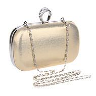 baratos Clutches & Bolsas de Noite-Mulheres Bolsas Poliéster / PU / Metal Bolsa de Festa Cristal / Strass Dourado / Preto / Prata