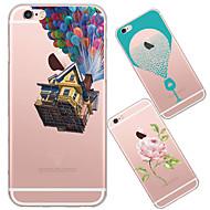 billiga Mobil cases & Skärmskydd-fodral Till iPhone 5 Apple iPhone 5-fodral Ultratunt Genomskinlig Mönster Skal Tecknat Mjukt TPU för iPhone SE/5s iPhone 5