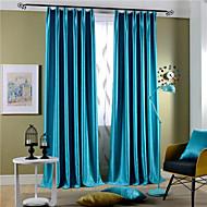 To paneler Rustikk / Moderne / Neoklassisk Solid Multi-farge Soverom Polyester Blackout Gardiner Gardiner