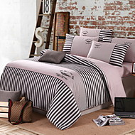 Duvet Cover Sets Solid 4 Piece Cotton Embroidery Cotton 1pc Duvet Cover 2pcs Shams 1pc Flat Sheet