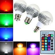 billige Globepærer med LED-YWXLIGHT® 540 lm E14 GU10 E26/E27 B22 LED-globepærer A60(A19) 1 leds Høyeffekts-LED Mulighet for demping Dekorativ Fjernstyrt RGB AC