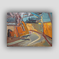 cheap Oil Paintings-Hand-Painted Abstract Horizontal, Modern Realism Style Canvas Oil Painting Home Decoration One Panel