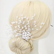 成人用 フラワーガール クリスタル 合金 人造真珠 かぶと-結婚式 パーティー コーム 1個