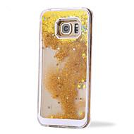のために Samsung Galaxy ケース リキッド ケース バックカバー ケース キラキラ PC Samsung S6 edge plus / S6 edge / S6 / S5 / S4 / S3