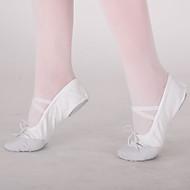 billige Ballettsko-Dame Ballettsko Lerret Flate Drapert Flat hæl Kan ikke spesialtilpasses Dansesko Hvit / Rød / Rosa / Innendørs / Trening