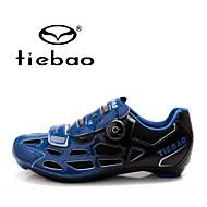 Tiebao® Sko til landevejscykling Kulstoffiber Anti-glide, Åndbart Cykling Orange / Gul / Blå Herre