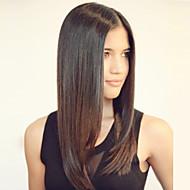 Naisten Aitohiusperuukit verkolla Aidot hiukset Lace Front 120% Tiheys Suora Peruukki #27 #30 #33 #4/27 #1B/30 Keskikokoinen Tummille