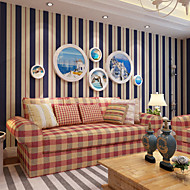 cheap Wallpaper-Stripe Home Decoration Contemporary Wall Covering, Non-woven Paper Material Wallpaper, Room Wallcovering